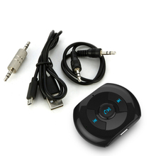 цена на Car Styling Bluetooth Car Kit Car Wireless Hands-free Bluetooth 4.0 AUX Audio Music Receiver Adapter With Microphone MP3 Player
