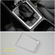 Yimaautotrims Middle Stalls Gear Shift Gearshift Box Frame Cover Trim Fit For Skoda Kodiaq 2017 - 2020 ABS Interior Mouldings yimaautotrims middle control gear shift multimedia cover trim interior mouldings fit for mercedes benz gle w166 2016 2017 2018