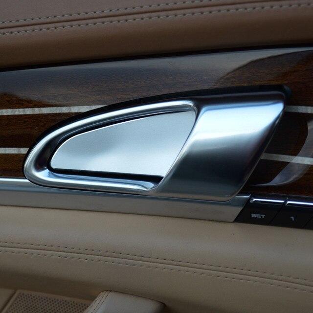 4pcs Aluminium Alloy Car Interior Door Handle Bowl Sticker
