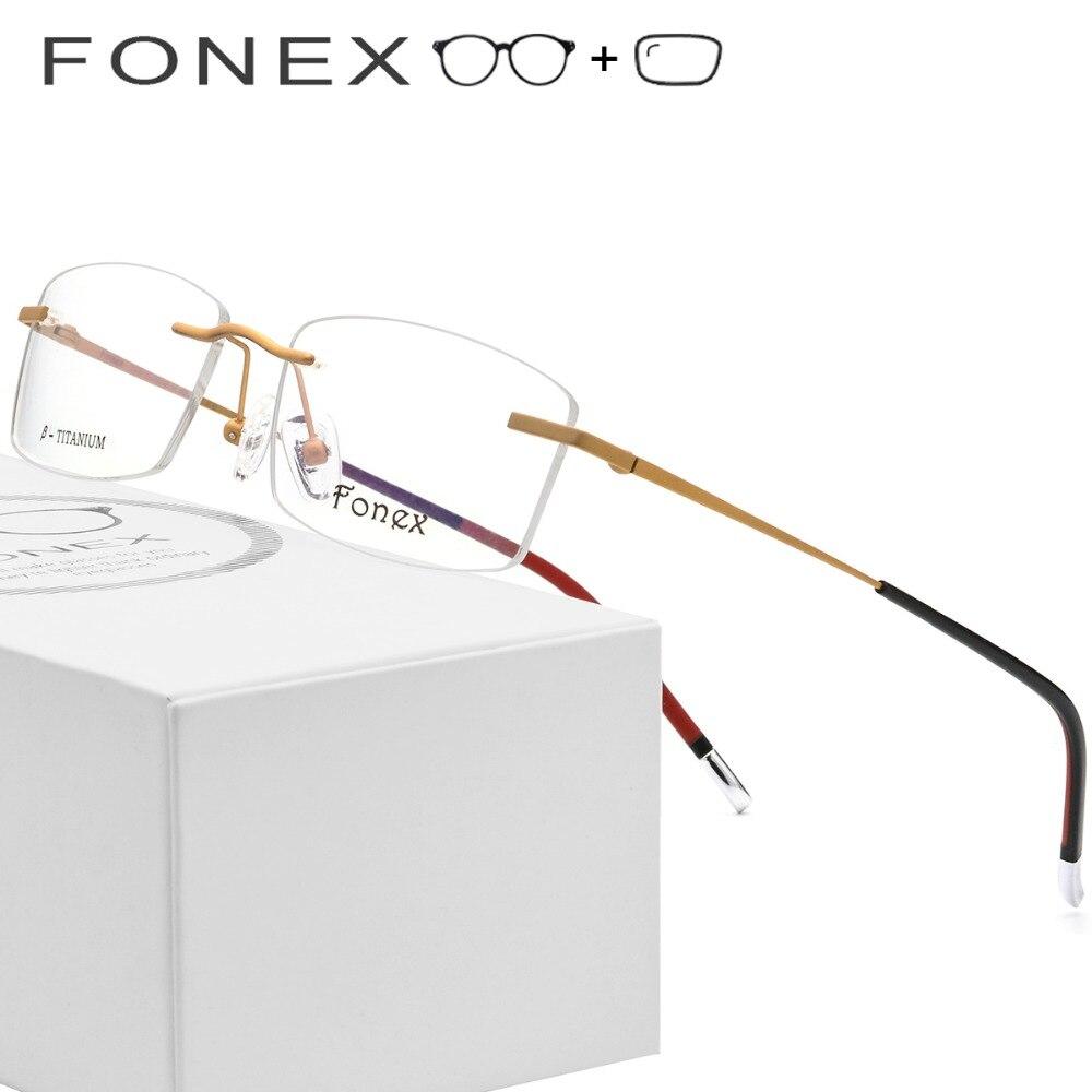 B Senza Montatura In Titanio Occhiali Da Vista Da Uomo di Alta Qualità Ottica Donne Senza Cornice Coreano Occhiali Occhiali Da Vista 9608