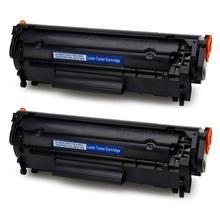 2 шт совместимый тонер-картридж для hp LJ 1010 1012 1015 1018 1020 1022 3010 3015 3020 3030 3050 M1005 притер Q2612A 2612A 12a
