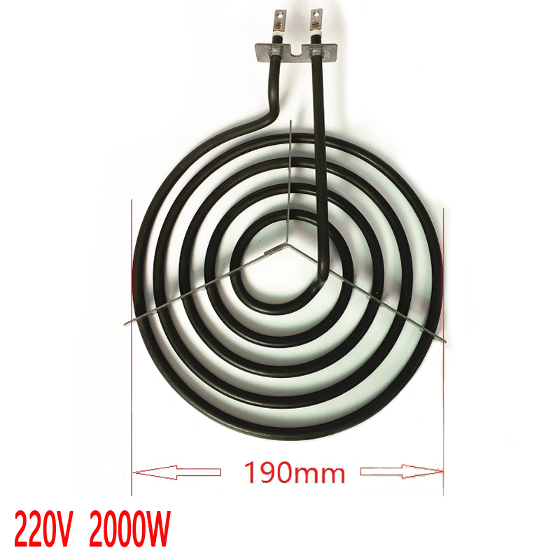 2000W whirlpool stove surface burner heating elements,5 rings mosquito coil type oblate heater tube with tripod