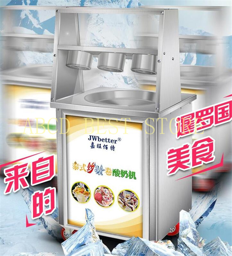 18 Fried Ice Cream Roll Machine/Ice Frying Machine Thailand Fried Ice Machine big Square pan Fried Ice Cream machine free air ship ce stainless steel fried ice cream machine single pan freezer ice pan machine with defrost for ice cream rolls