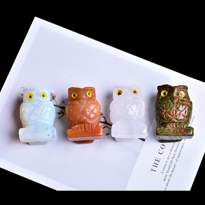 1PC natural crystal rock colorful owl can be used for home decoration decoration room decoration DIY gift jewelry