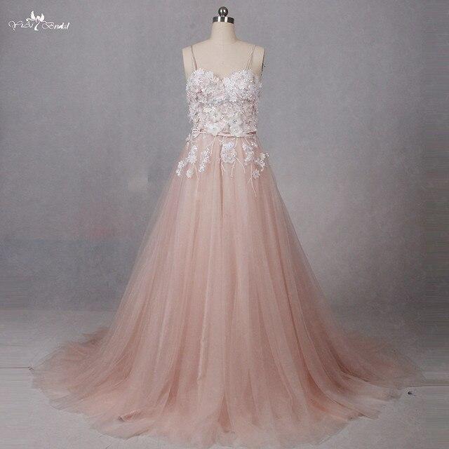 RSW1286 Blush Color Sweetheart Neckline A Line Wedding Dress 2017-in ...
