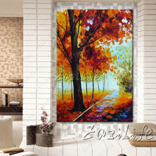 Hand painted Canvas Oil painting Wall Pictures for Living room wall decor art canvas painting palette knife landscape 9