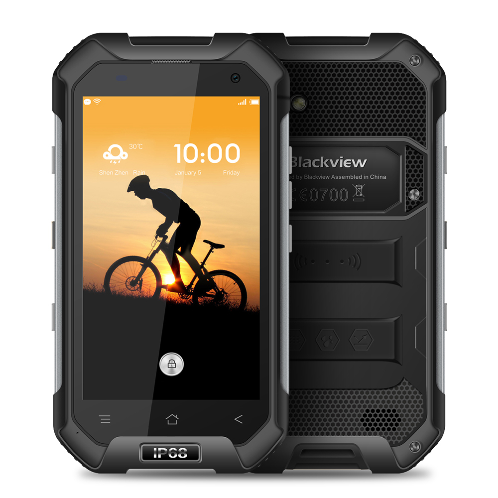 Blackview BV6000 4.7 pouces 4g Smartphone Android 7.0 MTK6755 Octa Core 3 gb 32 gb 5MP 13MP Caméras IP68 étanche Corning Verre NFC