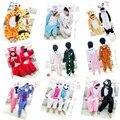 Lovely Autumn Winter Flannel Cartoon Costumes Blanket Sleepers For Kids Pijamas Pyjamas Boys Gilrs Sleepwear