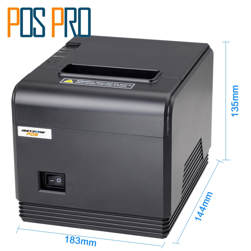 ITPP066 High Quality 80mm Thermal Receipt Printer POS Printer thermal printer 260mm/s automatic cutter USB+Serial ESC/POS itpp066 high quality 80mm thermal receipt printer 260mm s automatic cutter usb serial ethernet port esc pos