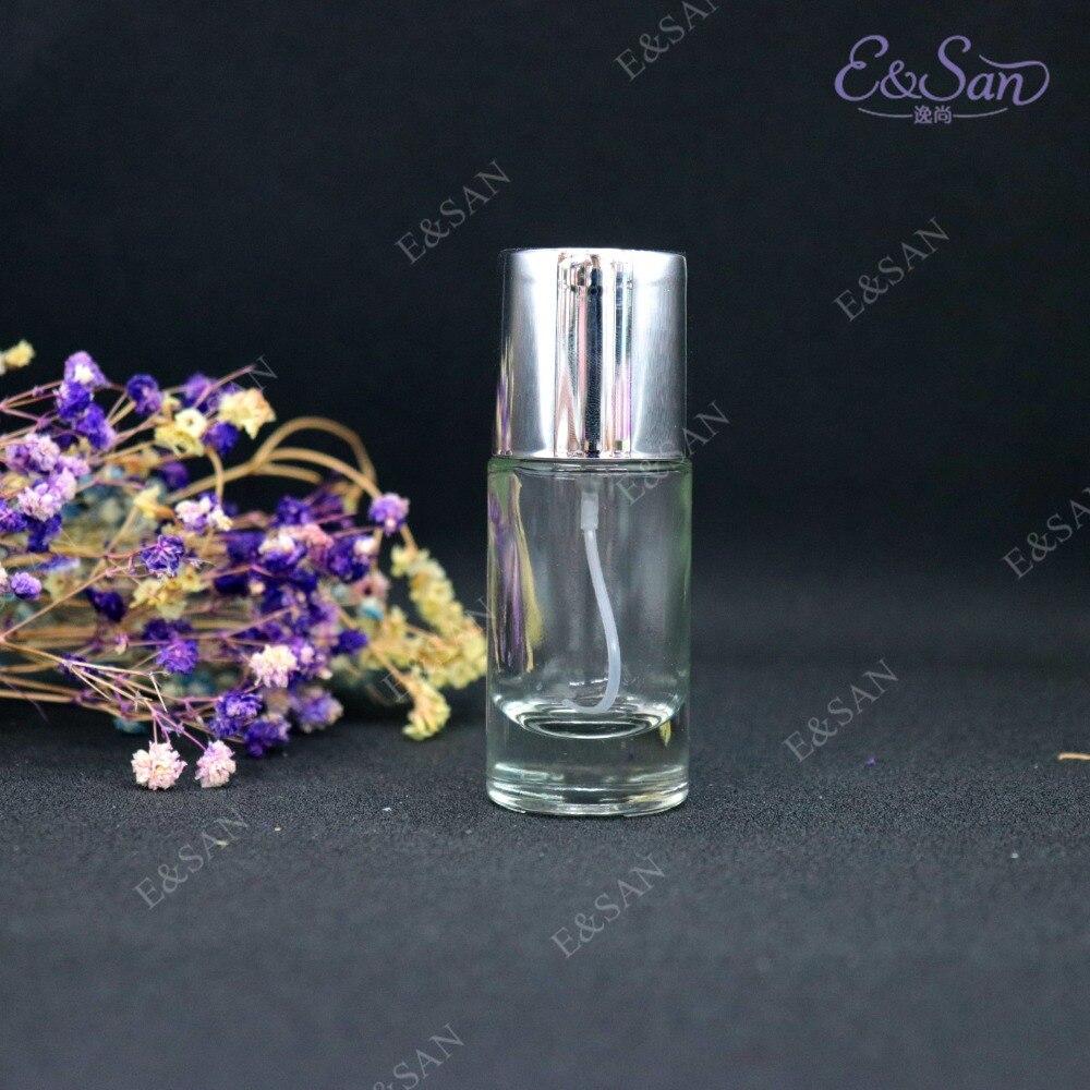 PT022C 20ML Transparent Straight Round Perfume Bottle Glass Empty Spray Cosmetics Bottle 100pcs lot