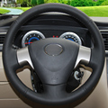 Black Leather Hand-stitched Car Steering Wheel Cover for Toyota Corolla 2006-2010 Toyota Corolla EX