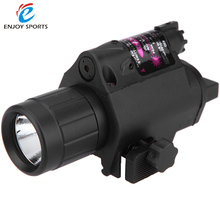 1Set Tactical Red Dot Mini Red Laser Sight With Rail Mount Tactical Devices Hunting Optics Weapon Lights Compact Flashlight