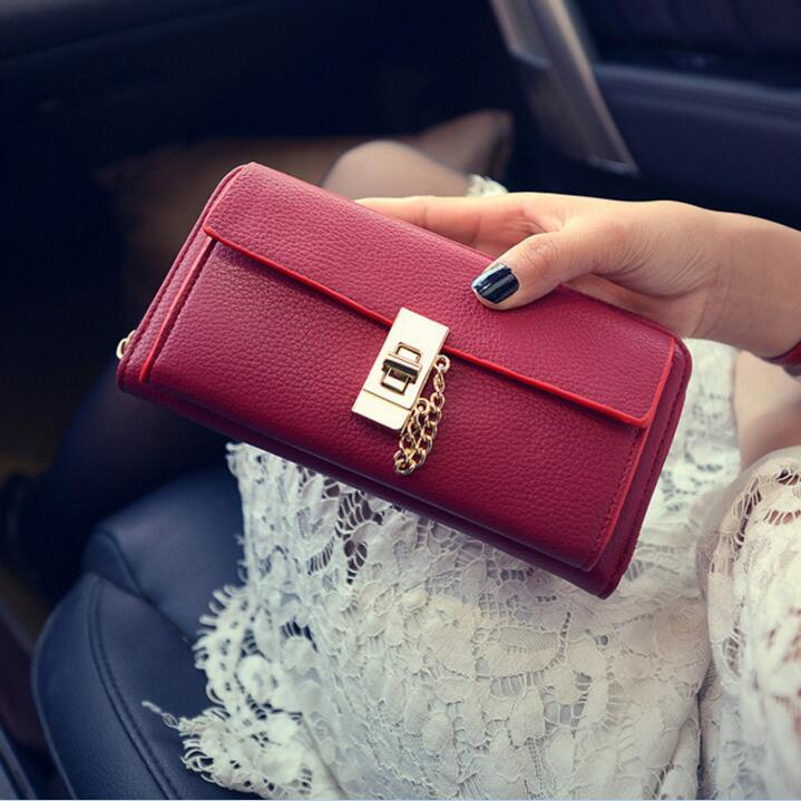2017 Vintage quality Genuine Leather Long Fashion Women Wallets Designer Brand Clutch Purse Lady Party Wallet Female Card Holder nawo real genuine leather women wallets brand designer high quality 2017 coin card holder zipper long lady wallet purse clutch