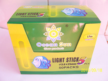 50pcs/10bags 3.0*25mm High Quality Fishing Glow Sticks Chemical lights , Fishing Tackle