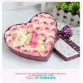 Hot sale low price teddy bear Roses Mix Colors Heart-Shaped Rose Soap Flower  Valentine's Day and Mother's day gifts