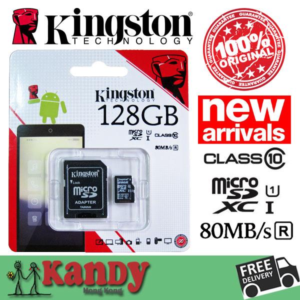 SALE Kingston micro sd card memory card 128gb class 10 80MBs high speed microsd cartao de memoria tarjeta micro sd carte tf card