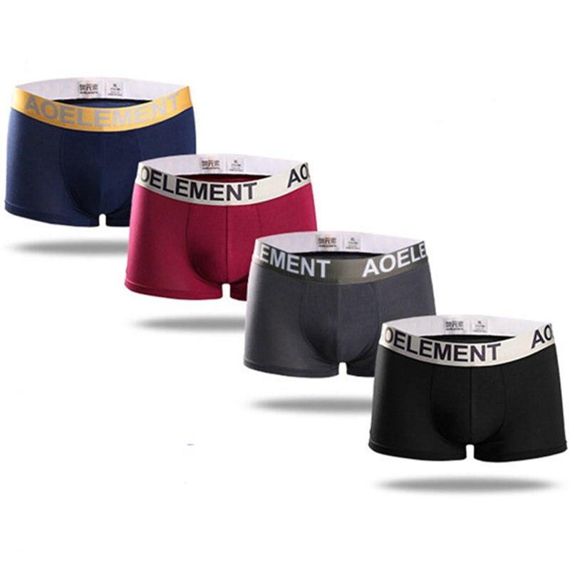 100% Wahr 4 Teile/los Marke Modal Boxer Männer Unterwäsche Herren Shorts Boxer Sexy Homme Hosen Günstige Unterwäsche Modal Underwaist Herren-unterwäsche
