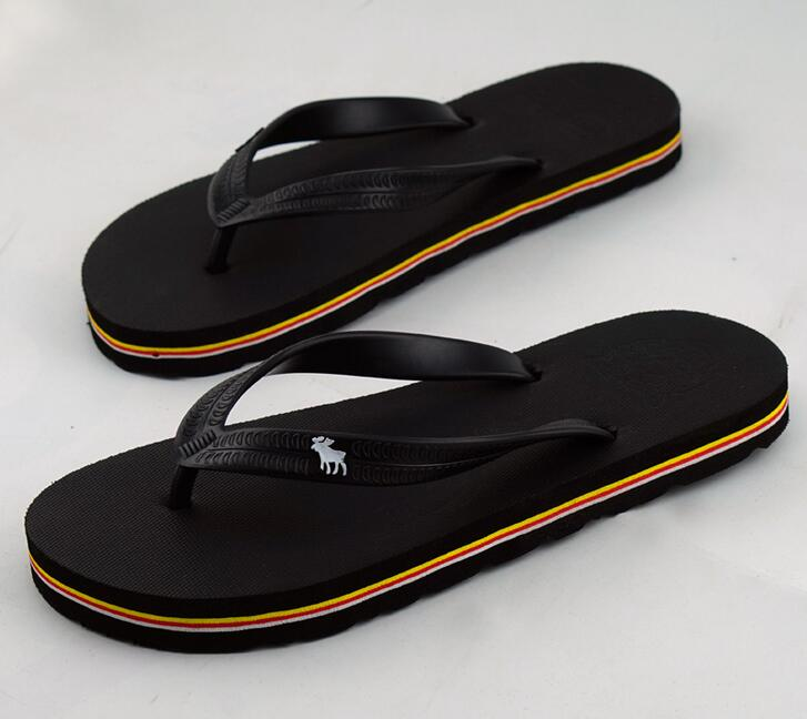 40-44 wholesale man sandals slippers new slippers thick bottom platform slope beach male ...