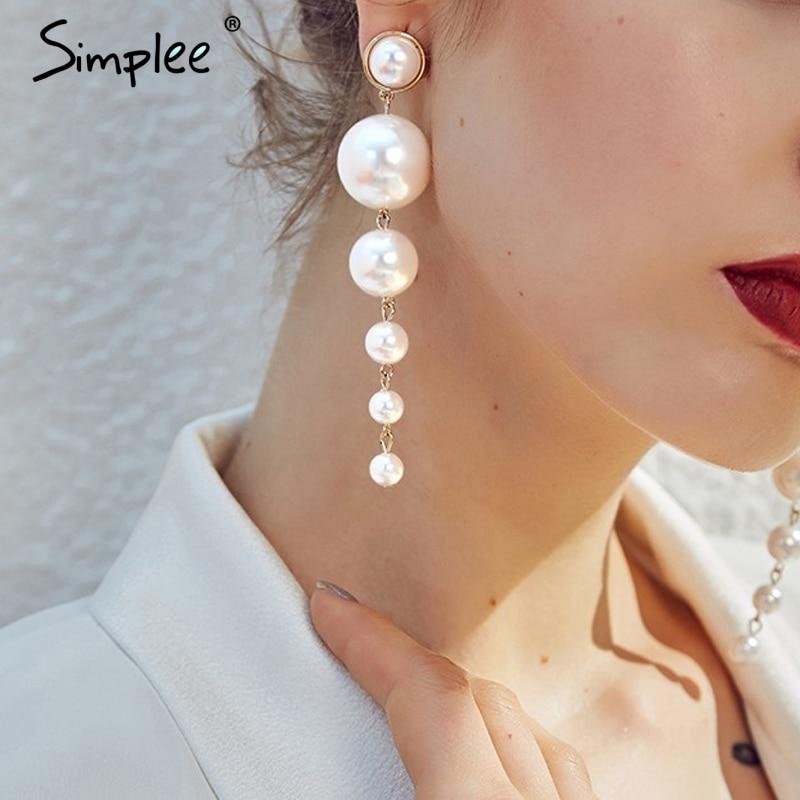 Simplee Fine bijoux perle goutte boucles d'oreilles femmes bijoux mode bijoux accessoires fête chic pendentif boucles d'oreilles femme accessoires