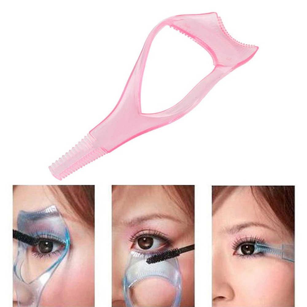 3 in1 Wimpers Gids Make Eye Mascara Crystal Wimper Kam Plastic Applicator Kaart Wimper Extensions Tools Mini Make Up Gereedschap