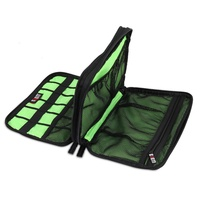 Large Double Layer Cable Organizer Bag Carry Case Can Put HDD USB Flash Drive Storage BagsKT