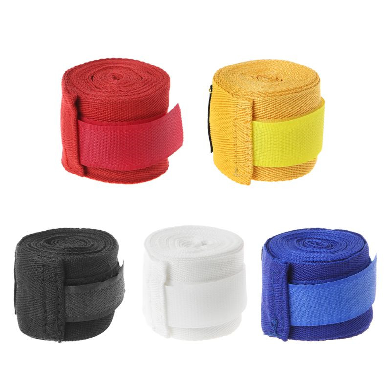 2.5m Cotton Bandage Boxing Wrist Bandage Hand Wrap Combat Protect Boxing Kickboxing Muay Thai Handwraps Training Gloves