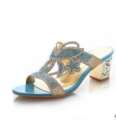 2016 Gold 34 De Más blue 41 Peep Alta out Cut Señoras Calidad Sandalias Tacones Toe Bombas Glitter Lujo Tamaño Diamante Mujeres Altos Original Sexy rSrABw
