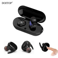 DOITOP Mini Invisible Touch Wireless Two BT Earphones Bluetooth Stereo Sport Music Headset Couples Lover Earpiece