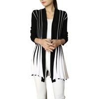 Hot! Spring Autumn 2017 Women Cardigan Stripes Print Long Sleeve Women's Shawl Knitting SlimThin Sweater Cardigan For Female