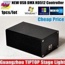 Китай DMX512 Свет Этапа Контроллер Box HD512 Универсальный USB DMX Dongle 512 Каналов ПК/В Автономном Режиме SD Мартин Lightjockey