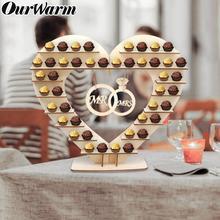 цена OurWarm Mr&Mrs Heart Tree Wedding Display Stand Centrepiece Wedding Decoration Ferrero Rocher Chocolate Stand Candy Bar Decor онлайн в 2017 году