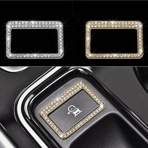 Серебристая/Золотистая Автомобильная рамка с кнопкой для Jaguar XE XF F-Pace 2016 2017 автомобильные аксессуары