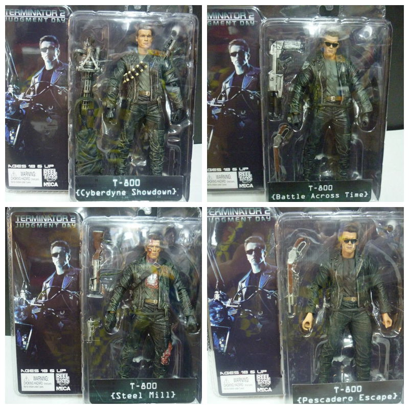 The terminator 1pcs 7inch/18cm 4style neca the terminator 2 action figure t-800...