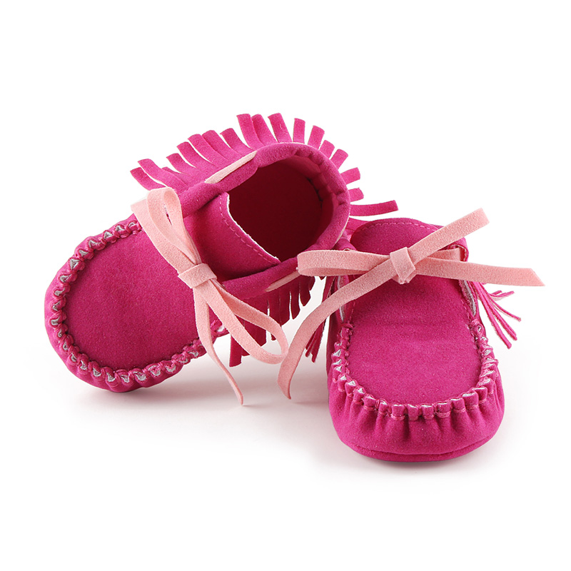 Butterfly knot Doudou Design Style Baby Shoes Pure Hand Sewn Baby boy Girl Shoes Slip on Soft Sole First Walkers in First Walkers from Mother Kids