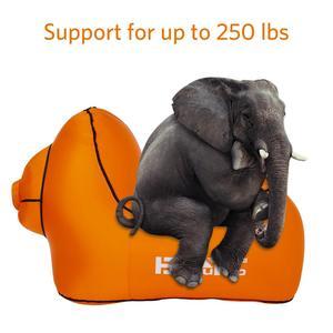 Image 2 - 아니 펌프 필요 야외 빠른 풍선 공기 의자 lounger hangout 휴대용 경량 캠핑 비치 바람 가방 공기 소파 소파