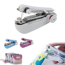 Portable Mini Hand-Held Stitch Clothes Fabrics Sewing Machine Home Travel Use Mini Convenience Cordless Household Products