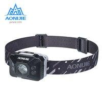 AONIJIE E4097 Wasserdichte Wiederaufladbare Empfindliche LED Scheinwerfer Scheinwerfer Taschenlampe Licht Laufsport Angeln Camping Wandern Radfahren