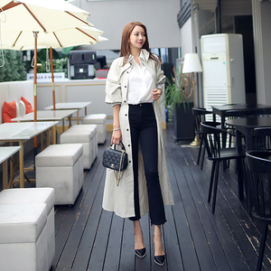 Image 2 - new arrival high quality women fashion comfortable loose a line trench coat  professional temperament outdoor warm long trench