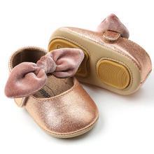 a20e4fd5d جديد أزياء الصيف الصلب سوليد طفلة أحذية قطيع القوس عقدة طفل الأخفاف المضادة  للانزلاق الأميرة ماري جين حذاء طفل