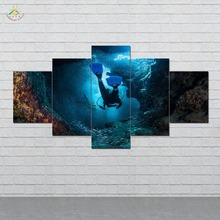 HD Printed 5 Pieces/set  Scuba World Canvas Wall Art Paintings Picture Print on for Home Decoration