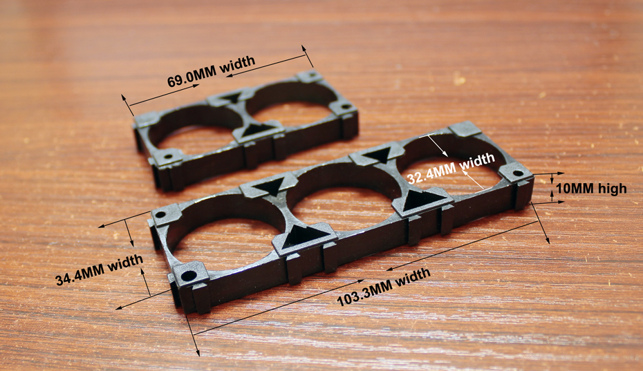 10pcs/lot Lithium Battery Universal Bracket 32650 32700 32900 Fixed Base Snap Connection Assembly Seat