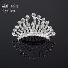A40 New Fashion Wedding Pageant Bridal Crystal Veil Tiara Crown Rhinestone Headband Hair Jewelry Free Shipping