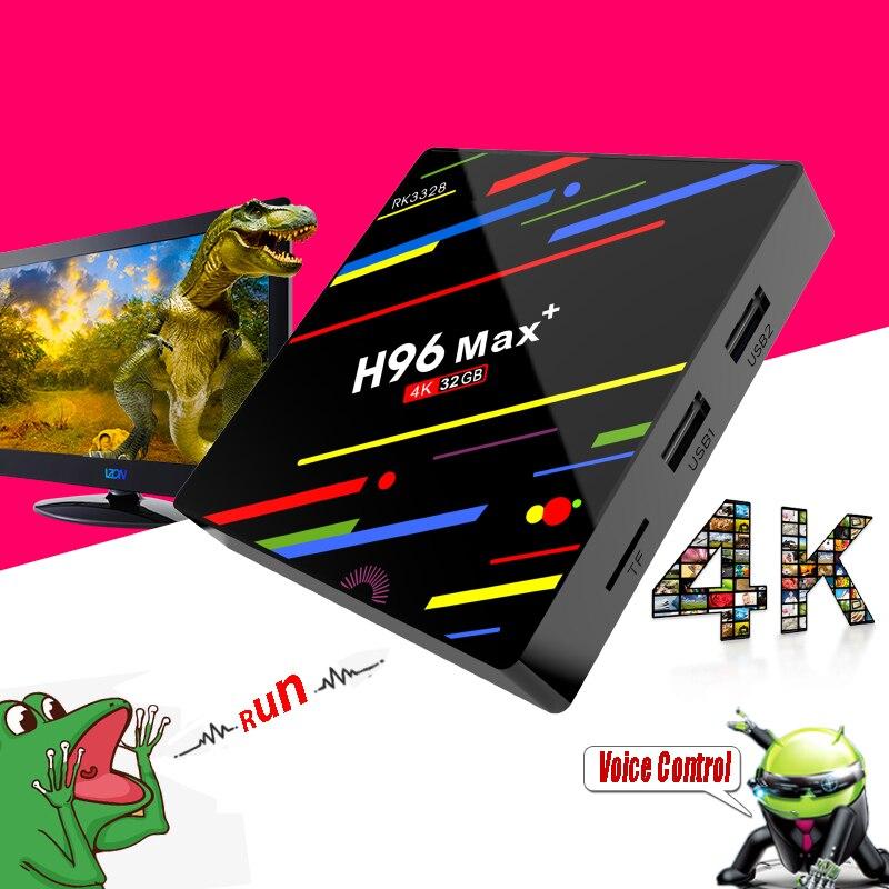 H96 Max + плюс оперативной памяти 4 ГБ Rom 32 ГБ USB 3,0 Smart ТВ Box Android 8,1 компл. Топ Коробки 3D 4 К HD медиаплеер с голос дистанционного Управление