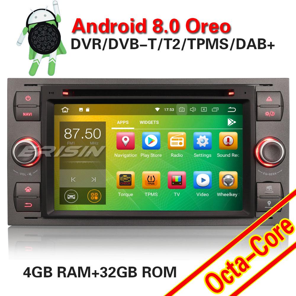 erisin es7866f 7 auto radio android 8 0 octa core 4g ram. Black Bedroom Furniture Sets. Home Design Ideas