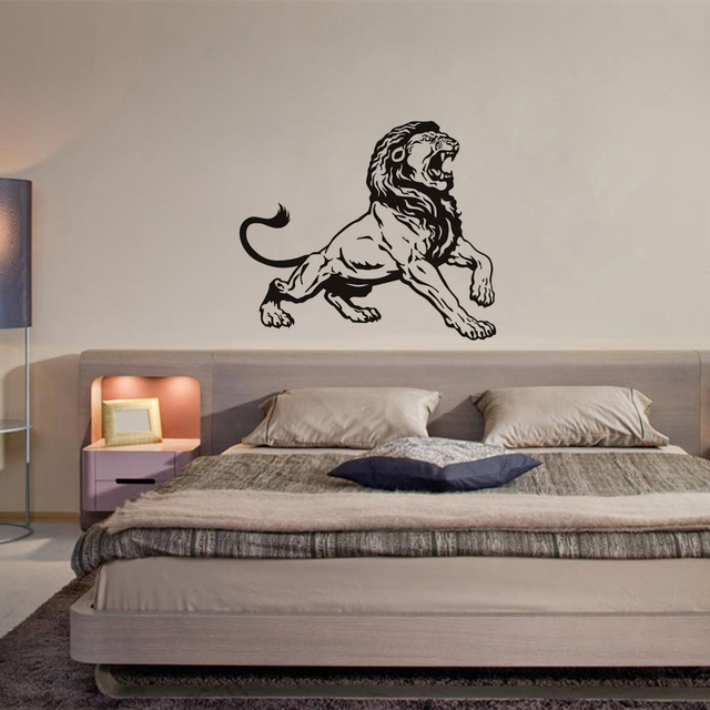High Quality Jungle Lion King Wall Decals, Kids Vinyl Adhesive Wall Stickers For  Bedroom, Animals Mural