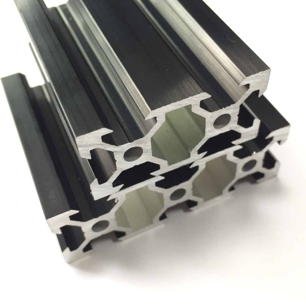 Black colour V slot <font><b>1000mm</b></font> Length 2080 V-Slot Aluminum <font><b>Profiles</b></font> Extrusion Frame For CNC image