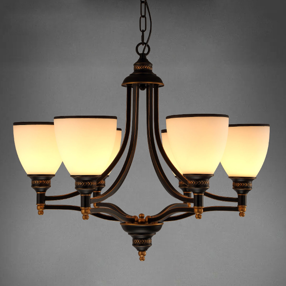 Modern European Chandelier Simple Retro Bronze Chandeliers Art Dining Room Lighting Decor In From Lights On Aliexpress Com