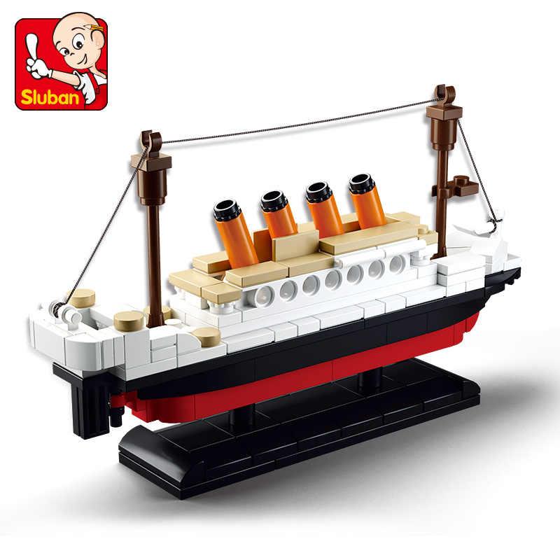 194Pcs Città RMS Titanic Nave Barca Modello Building Blocks Imposta Figure FAI DA TE LegoINGLs Technic Mattoni Giocattoli Educativi per I Bambini