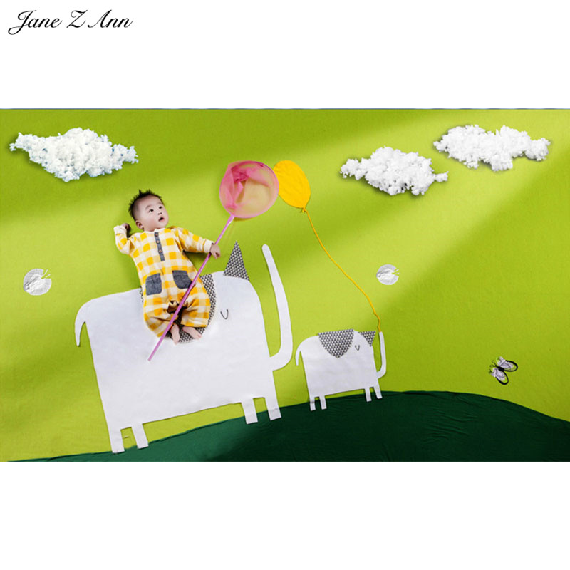 Jane Z Ann Newborn Baby Photography Props catching butterfly Theme Background Set  Accessory Studio Shooting Photo Props shengyongbao 300cm 200cm vinyl custom photography backdrops brick wall theme photo studio props photography background brw 12