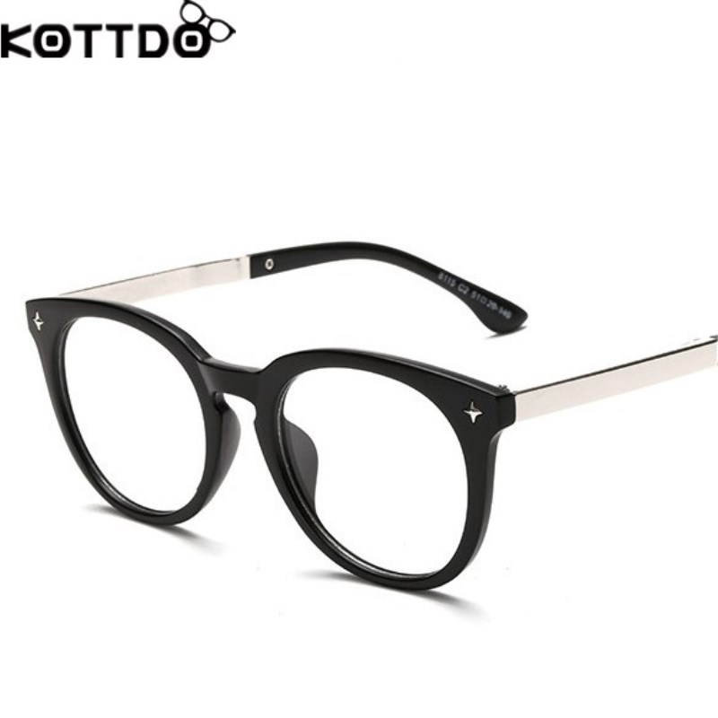 2d26cb5b6d629 KOTTDO 2018 Moda Marca Designer Homens Mulheres Óculos Frames Unisex Retro  Limpar Óculos Óculos Pretos Do Vintage Óculos